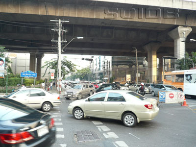 A photo of Rama 1 Road