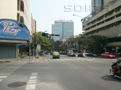 A photo of Silom Road