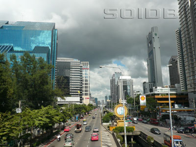 A photo of South Sathorn Road