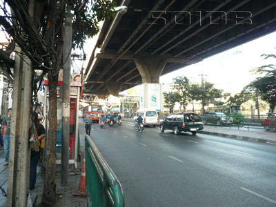 A photo of Ramkhamhaeng Road