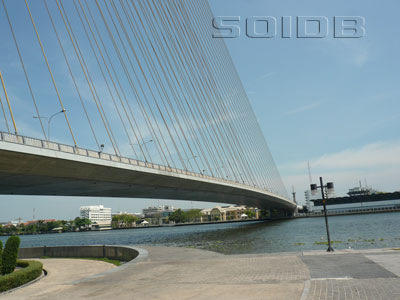 A photo of Rama 8 Bridge