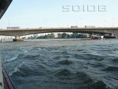 A photo of Somdet Phra Pokklao Bridge