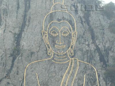 カオシーチャン大仏壁画の写真