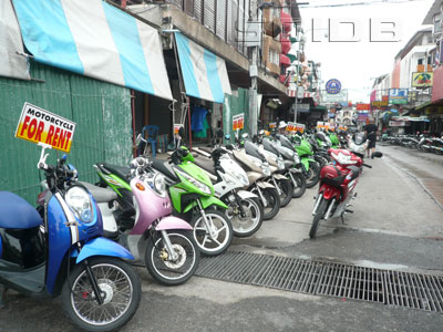 Rental Motorcycle Shops in Beach Road Soi 13/3