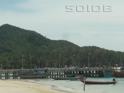 A photo of Chaloklum Pier