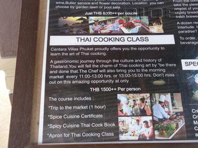 A photo of Thai Cooking Classes - Centara Villas Phuket