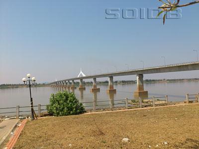 A photo of Second Thai-Lao Friendship Bridge