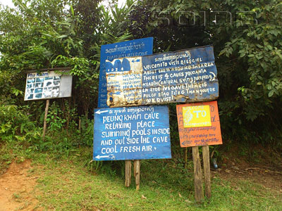 A photo of Bee Cliff Cave (Signboard)