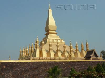A photo of Pha That Luang